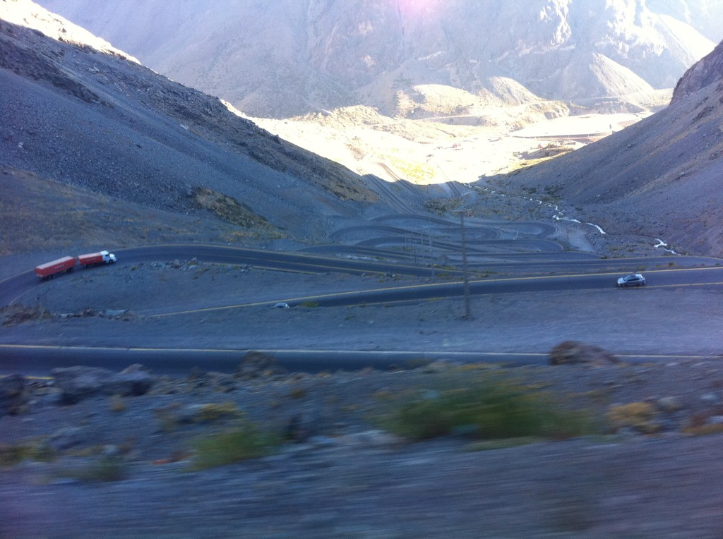 The road through the Andes to Chile