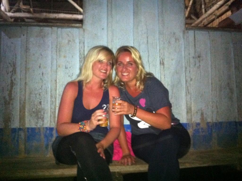 Outside the jungle bar (aka villager's house), The Amazon