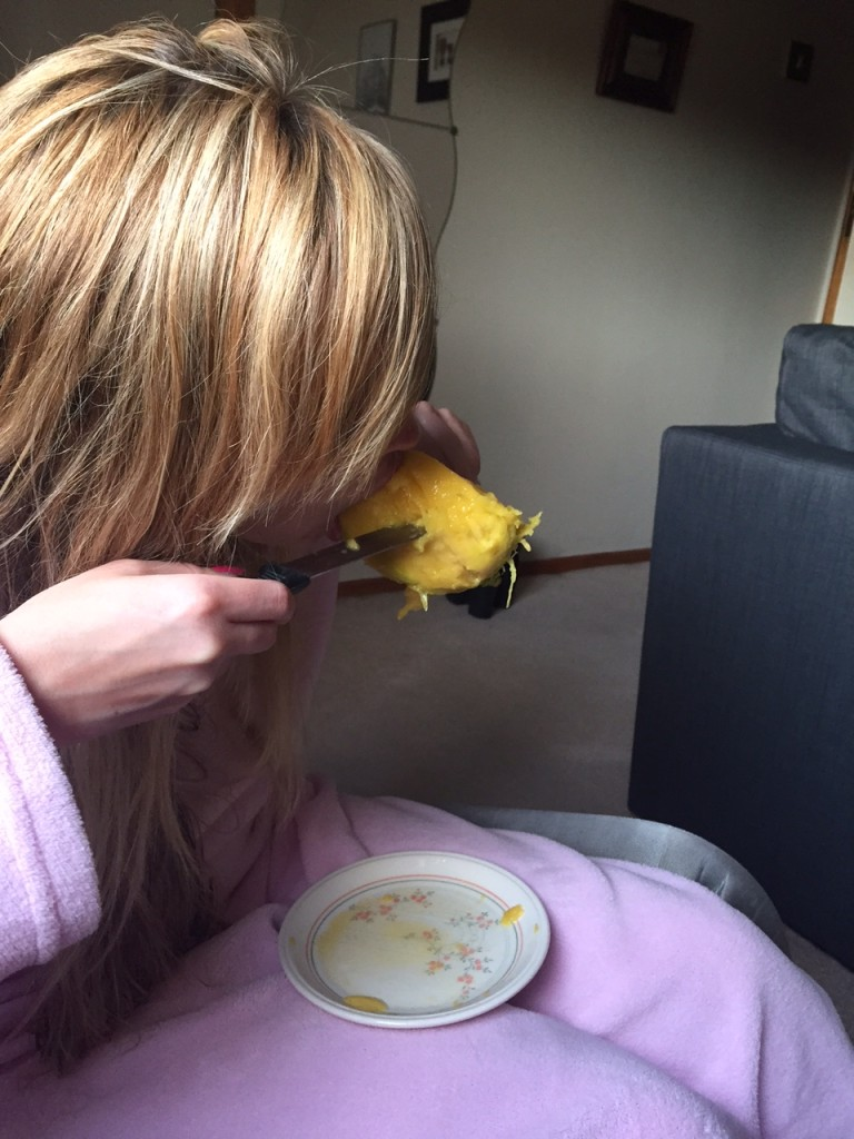 The trials of eating a mango