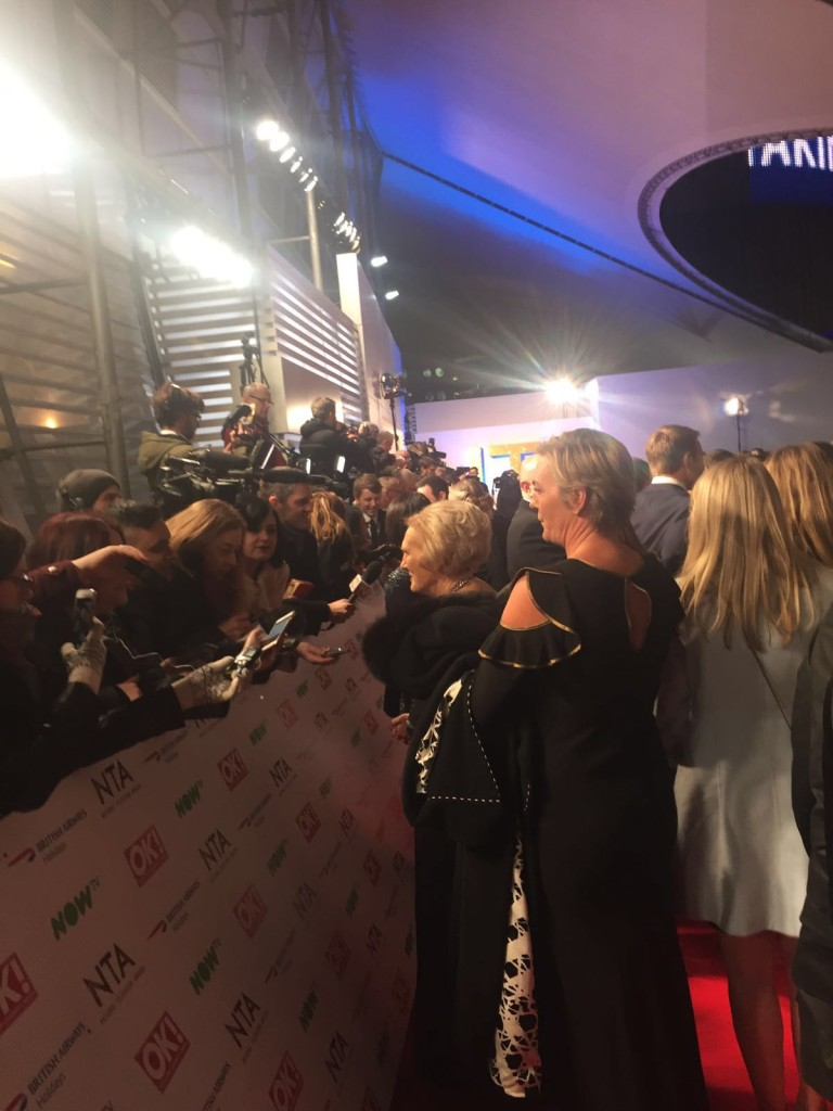 Mary Berry on the Red Carpet at the NTA Awards