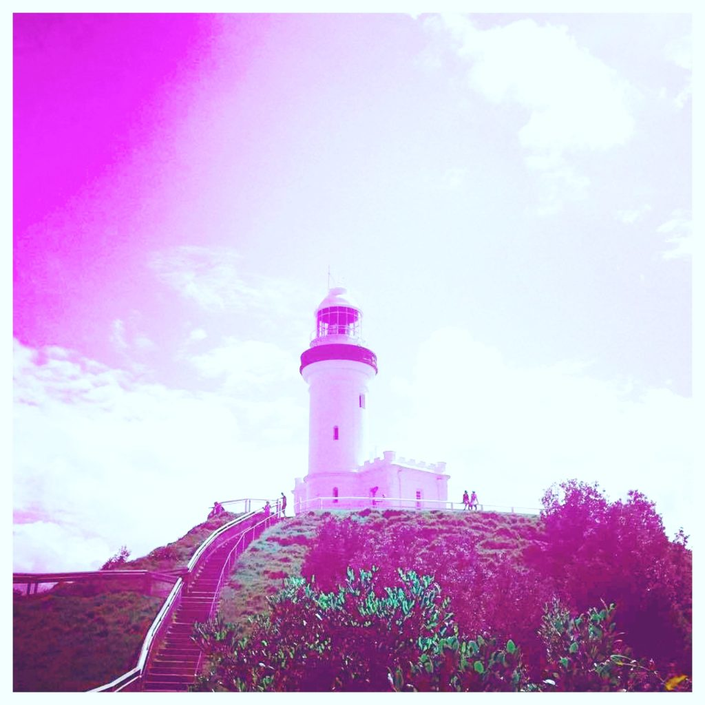 Byron Bay in pink