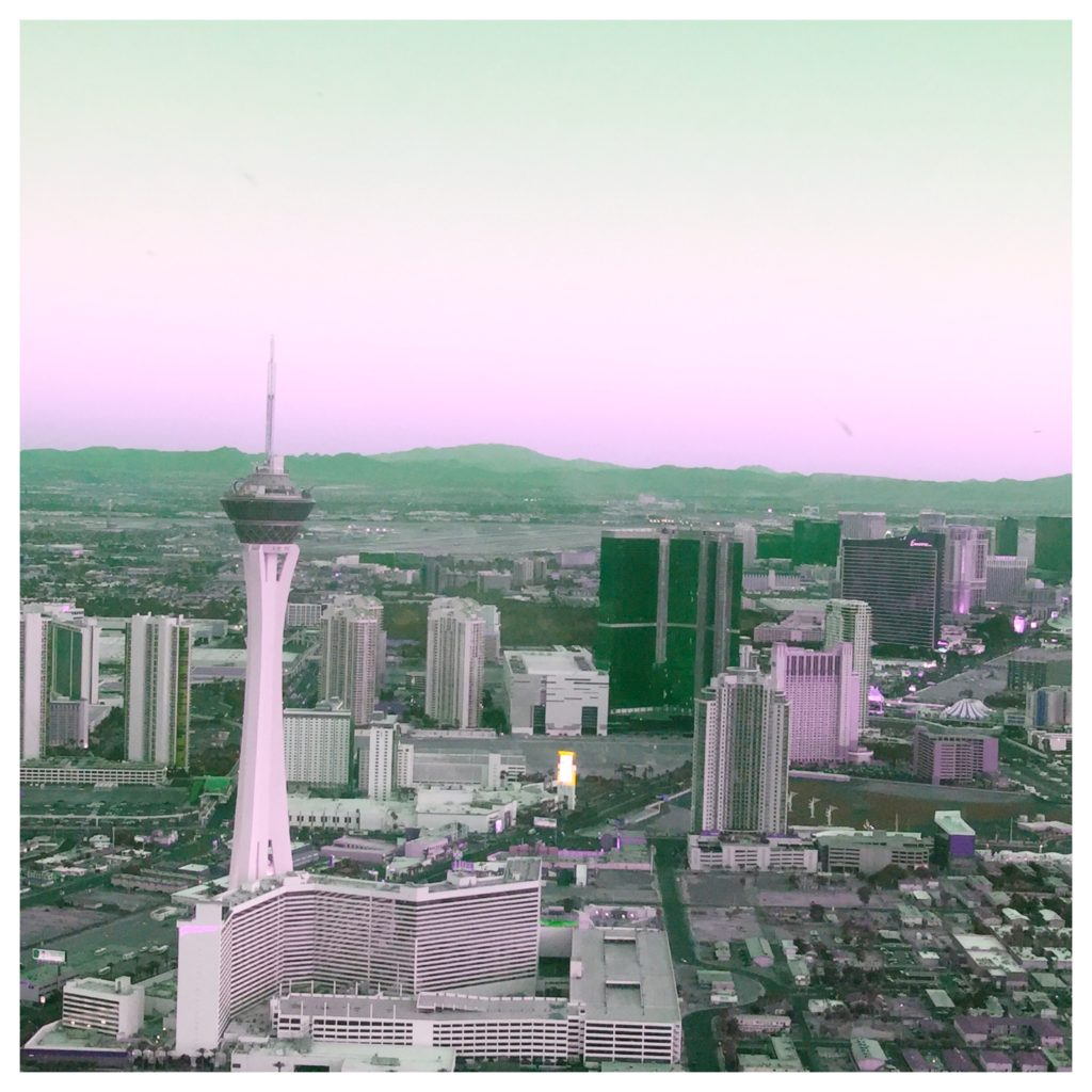 Las Vegas skyline in pink