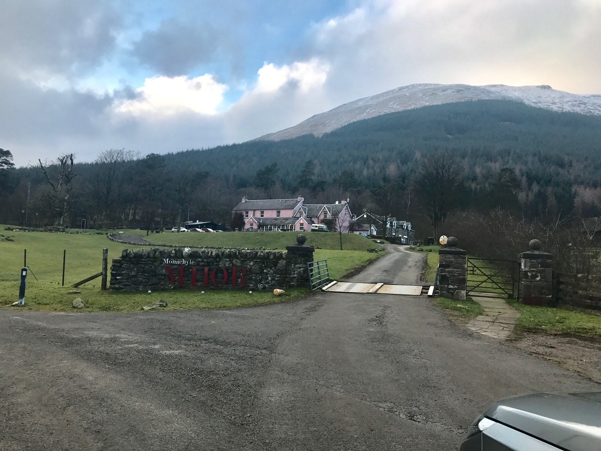 Pink hotel in Scotland Monachyle Mhor