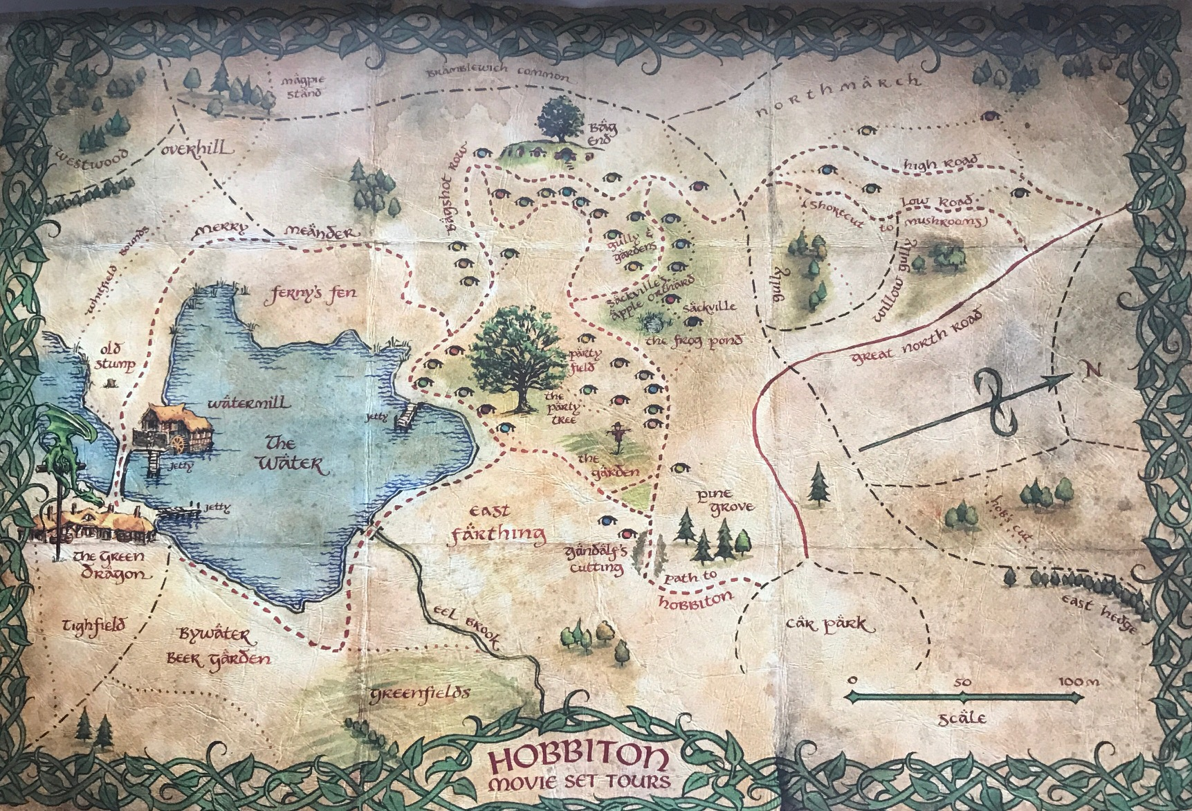 Hobbiton Movie Set Map