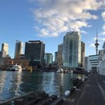Auckland skyline view from Viaduct