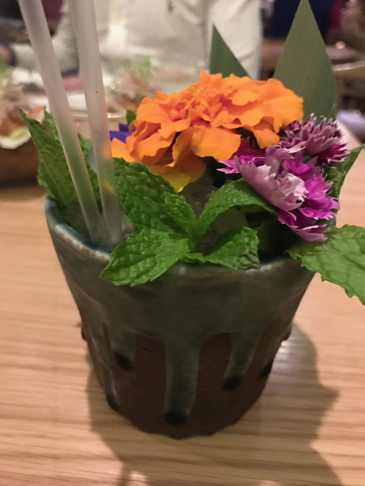 Floral Cockail from Masu Japanese restaurant Auckland