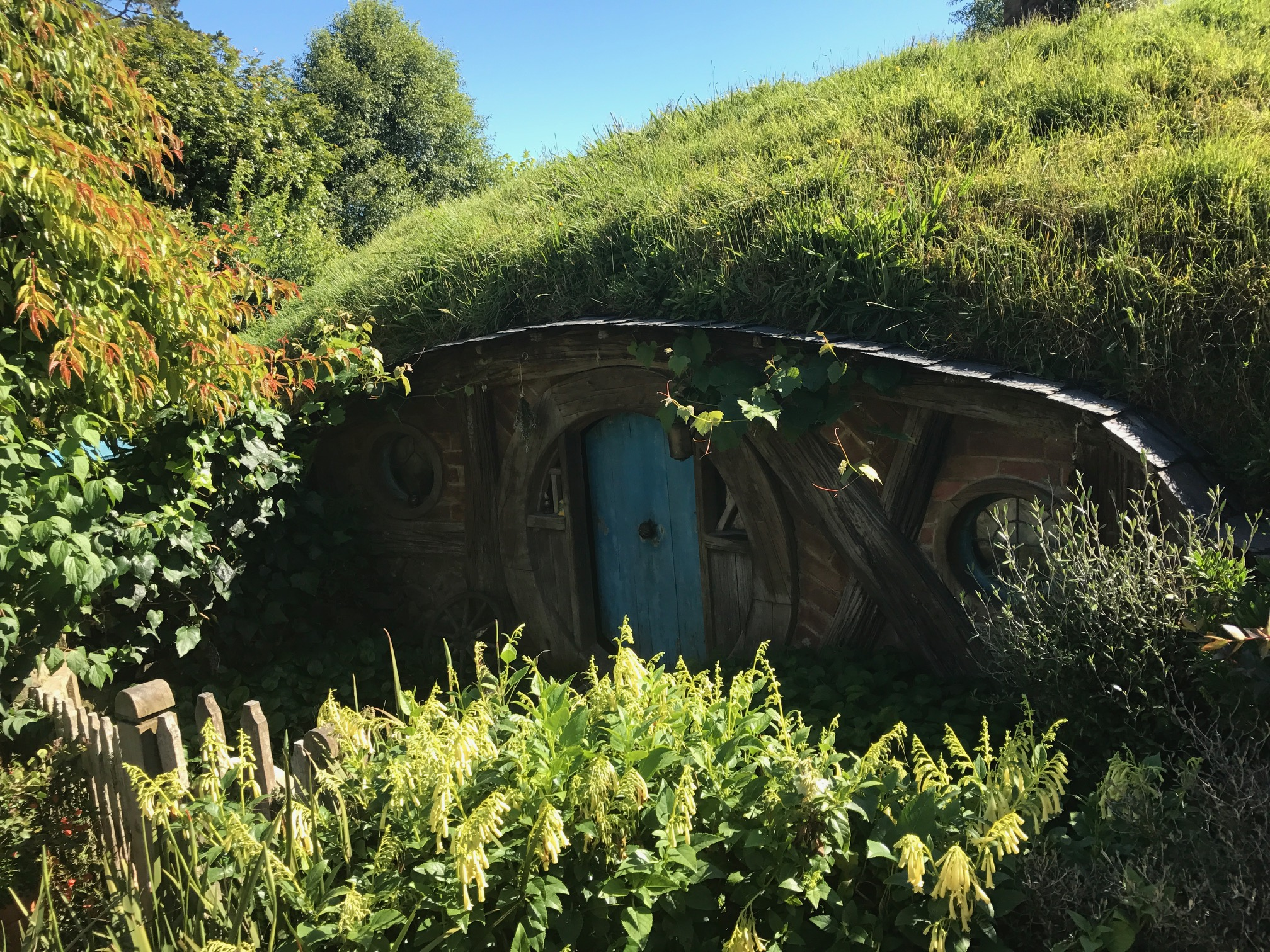 Hobbit Hole in Hobbiton Movie Set