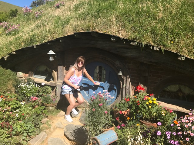 At a Hobbit Hole in Hobbiton