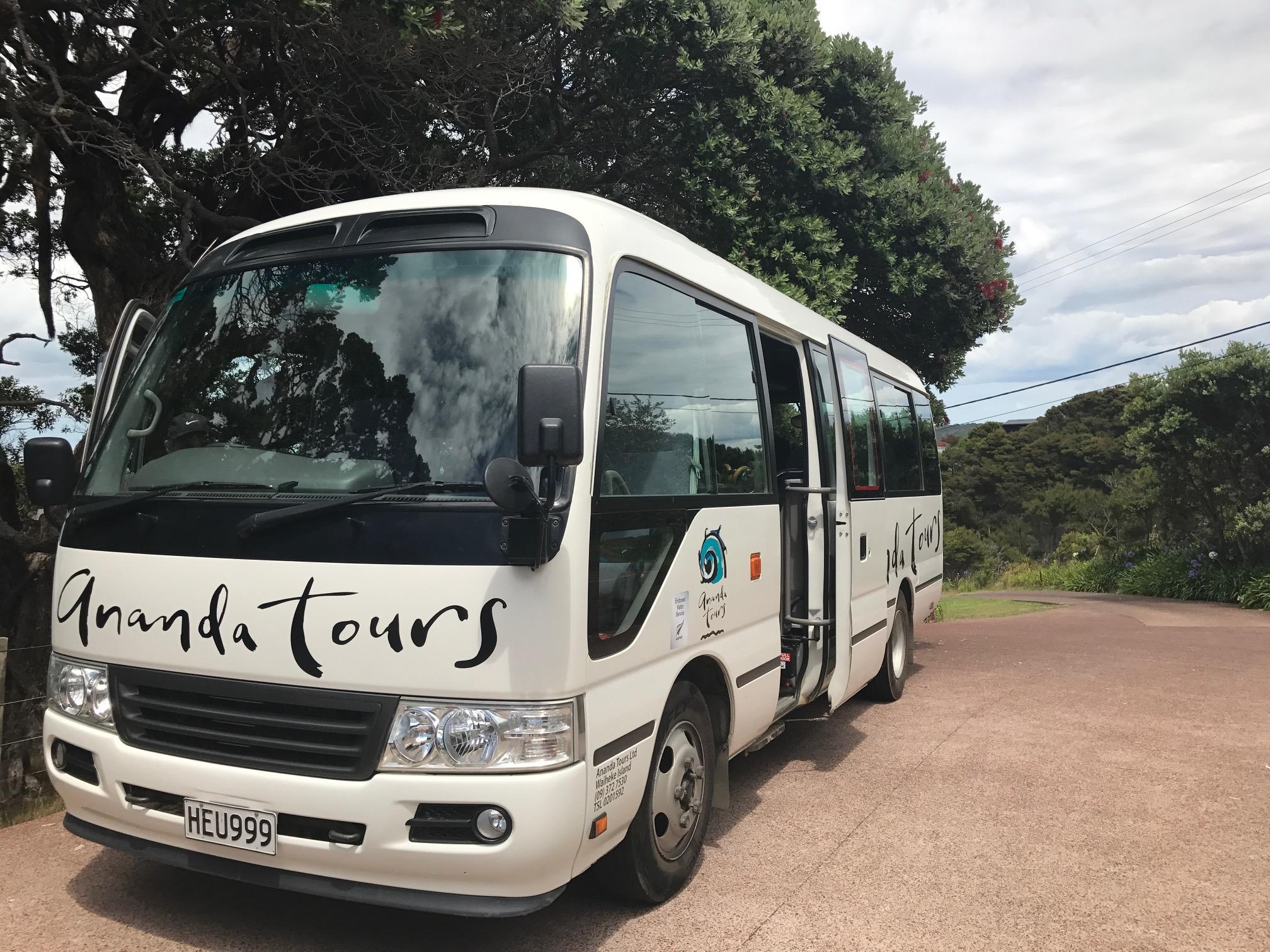 Vineyard tour on Waiheke Island with Ananda