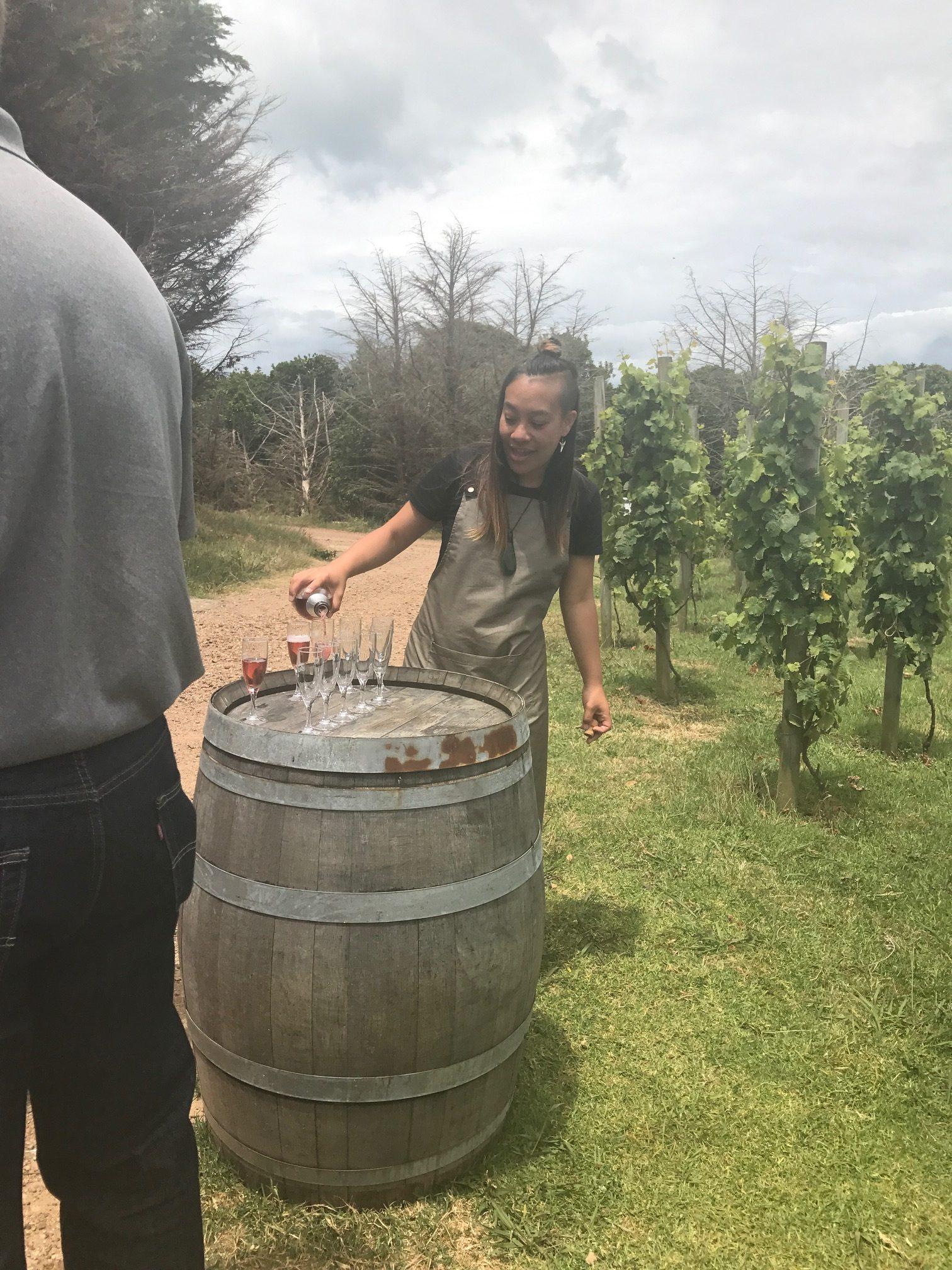 Wine tasting at Batch Vineyard