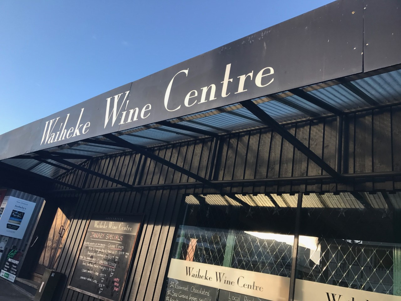 The Wine Centre in Little Oneroa, Waiheke Island