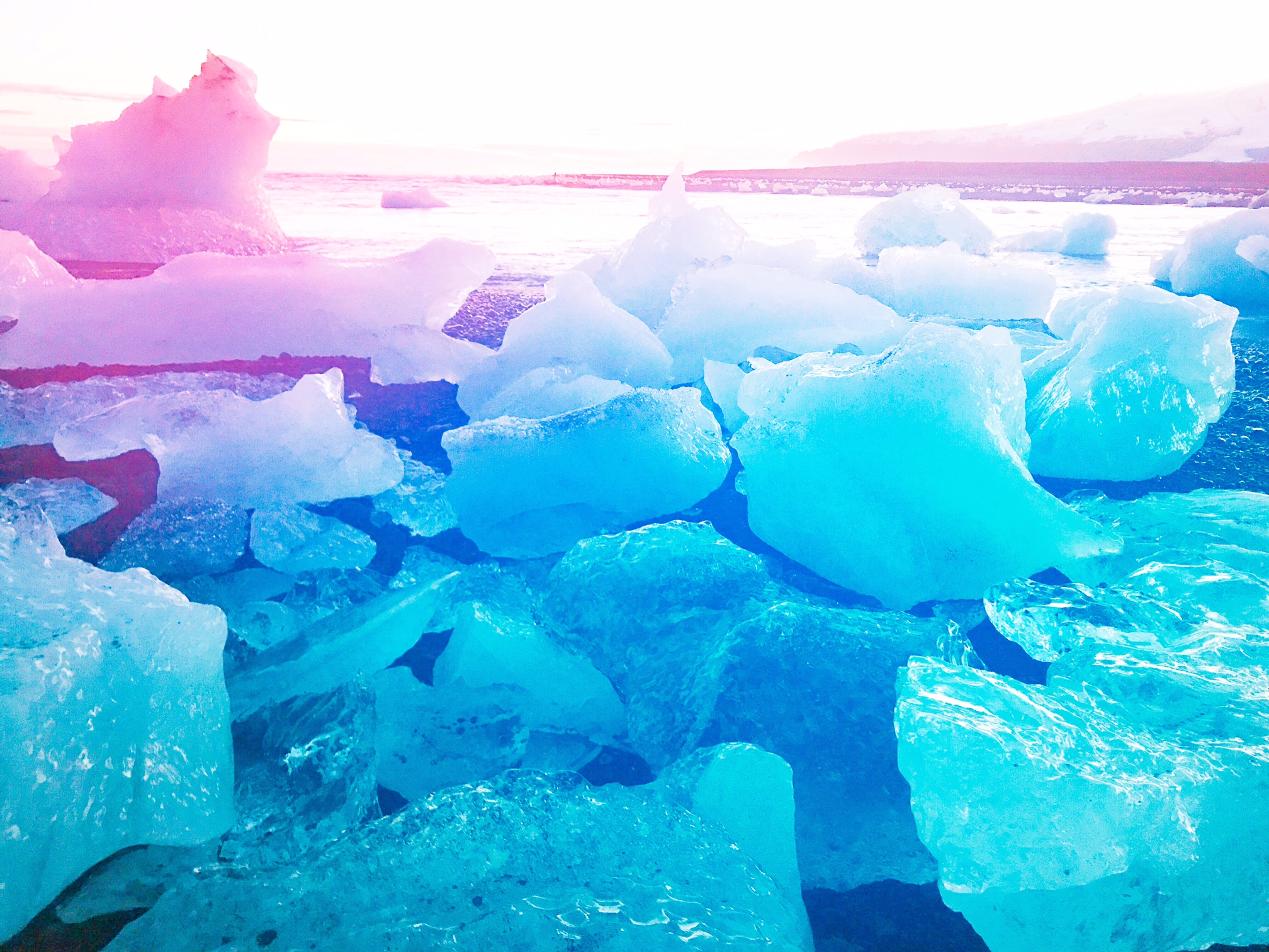 Diamond Glacier Beach, Southern Iceland
