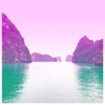 Halong Bay in Pink and Emerald